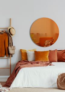 Speil Slim Orange 90 cm Ø