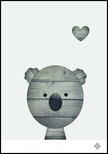 Wood koala Plakat