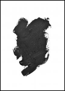 Paintbrush Black Plakat