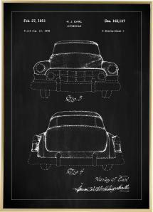 Patenttegning - Cadillac II - Svart