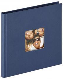 Fun Blå - 18x18 cm (30 Svarte sider)