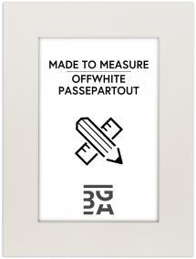 Passepartout Offwhite (Hvit kjerne) 40x50 cm (29x39)