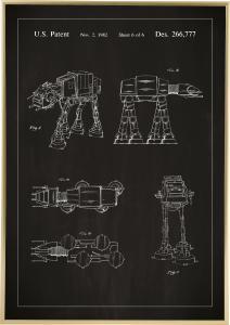 Patenttegning - Star Wars - Walker - Svart