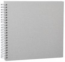 Base Line Canvas Wire-O Beige 30x30 cm (50 Hvite sider / 25 Ark)