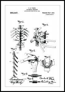 Patenttegning - Skjelett III - Poster