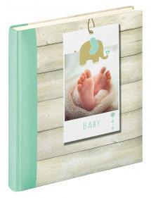 Welcome Babyalbum Grønn - 28x30,5 cm (50 Hvite sider / 25 ark)