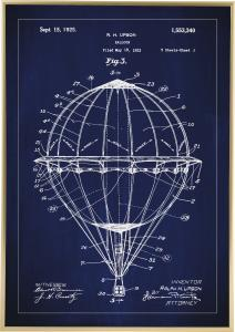 Patenttegning - Luftballong - Blå