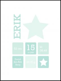 Star Birth Poster II Green