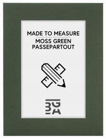 Passepartout Mosegrønn (Hvit kjerne) - Målbestilt