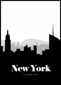 New York Skyline - 21x29,7 cm (A4)