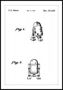 Patenttegning - Star Wars - R2-D2 - Poster