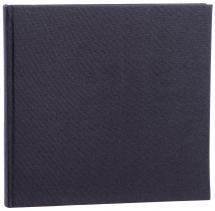 Base Line Canvas Svart 26x25 cm (40 Hvite sider/ 20 Blad)