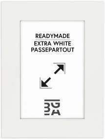 Passepartout Superhvit (Hvit Kjerne) 30x40 cm (20x28,7)