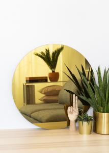 KAILA Rundt Speil Gold 60 cm Ø