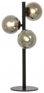 Bordlampe Molekyl 3 - Svart/Røyk