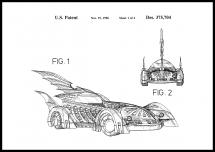 Patenttegning - Batman - Batmobile 1996 I - Plakat