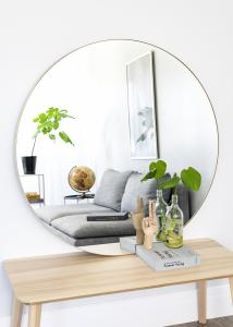 Speil Vendela Messing 110 cm Ø