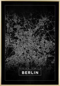 Kart - Berlin - Svart Plakat