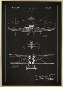 Patenttegning - Fly - Svart