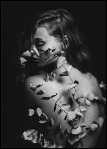 Back Of Flowers Plakat