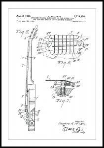 Patenttegning - El-gitar II - Poster