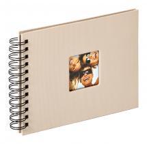Fun Spiralalbum Sand - 23x17 cm (40 Svarte Sider / 20 ark)