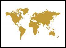 Verdenskart - Gull
