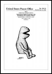 Patenttegning - Kermit I - Poster