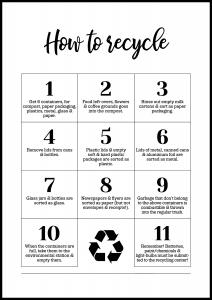 How To Recycle - White