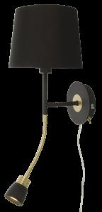 Vegglampe Eketorp - Svart/Messing