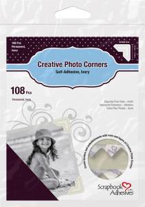 3L Creative Photo Corners Hvit - 108 stk