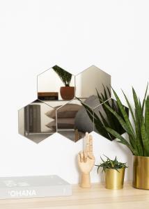 KAILA Speil Hexagon Dark Bronze 18x21 cm - 5-pk