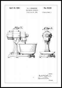 Patenttegning - Håndmikser II - Poster
