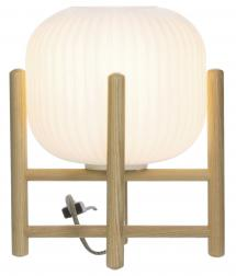Bordlampe Vinda Liten - Tre/Hvit