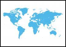 Verdenskart Blå