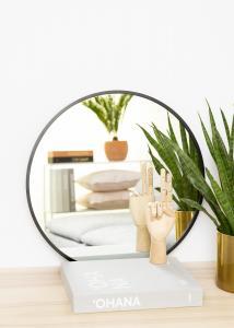KAILA Round Mirror - Edge Black 50 cm Ø