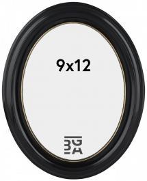 Eiri Mozart Oval Svart 9x12 cm