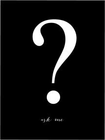 Ask me - Svart med hvitt trykk