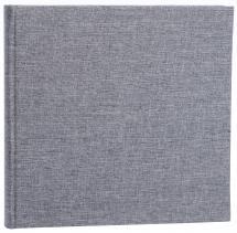Base Line Canvas Grå 26x25 cm (40 Hvite sider / 20 Ark)