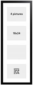 Black Wood Collageramme - 4 Bilder (18x24 cm)