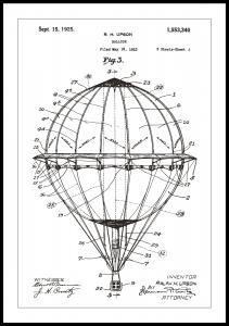 Patenttegning - Luftballong - Hvit