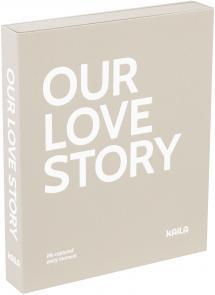 KAILA OUR LOVE STORY Grey - Coffee Table Photo Album (60 Svarte Sider)