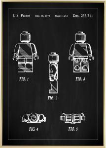 Patenttegning - Lego I - Svart