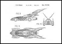Patenttegning - Batman - Batmobile 1996 IIII - Plakat
