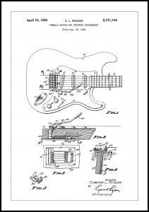 Patent Print - Tremolo Device - White Plakat