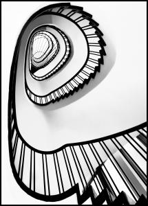 Spiral stairs BW Plakat
