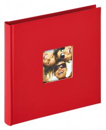 Fun Rød - 18x18 cm (30 Svarte sider)