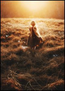 Girl walks in the dew Plakat