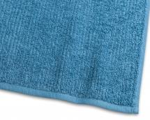 Gjestehåndkle Stripe Frotté - Turkis 30x50 cm