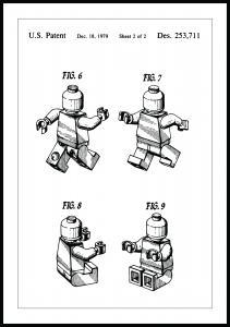Patenttegning - Lego II - Poster Plakat